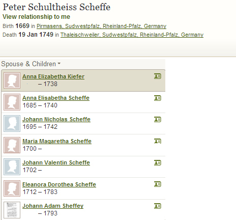 Peter Scheffe family