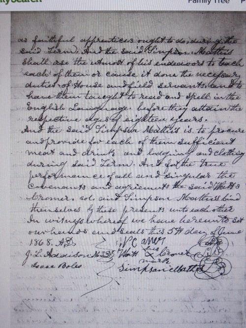 Indenture of Eliza and Ellen Cramer to Simpson Matthews - Page 3