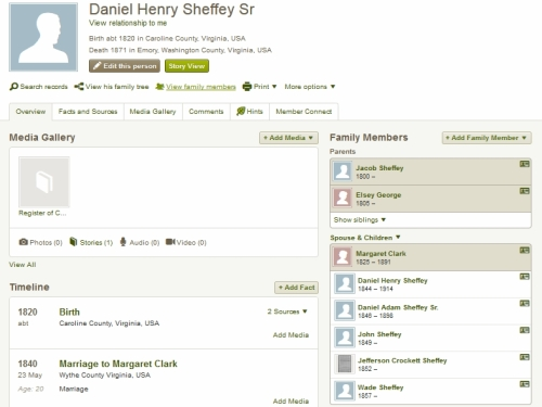 image showing The sons of Daniel Henry Sheffey, Jr and Margaret Clark of Wytheville, Wythe County, Virginia