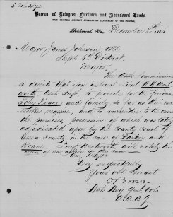 "Parker vs Roane. Letter dated 8 Dec 1866. Citation: ""Virginia, Freedmen's Bureau Field Office Records, 1865-1872,"" index and images, FamilySearch (https://familysearch.org/pal:/MM9.1.1/FPNJ-PMW : accessed 16 Jul 2014), Toby Roane, ; citing NARA microfilm publication M1913, National Archives and Records Administration, College Park, Maryland; FHL microfilm 2413683."