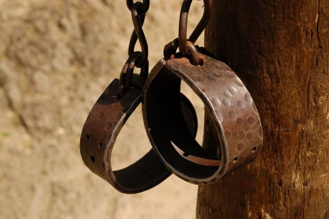 Image of slave wrist shackles