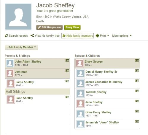 Snapshot putting my oldest known black Sheffey ancestors into context. Click for larger image.