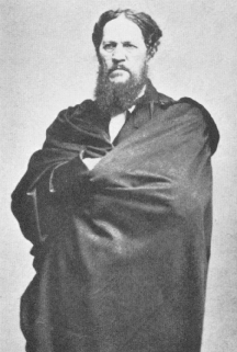Josiah Harlan in his Afghan robes. The only known photograph of him.