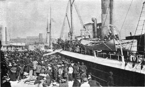 Illustrative image of African Americans arriving in Liberia. This is not a picture of the Nautilus.