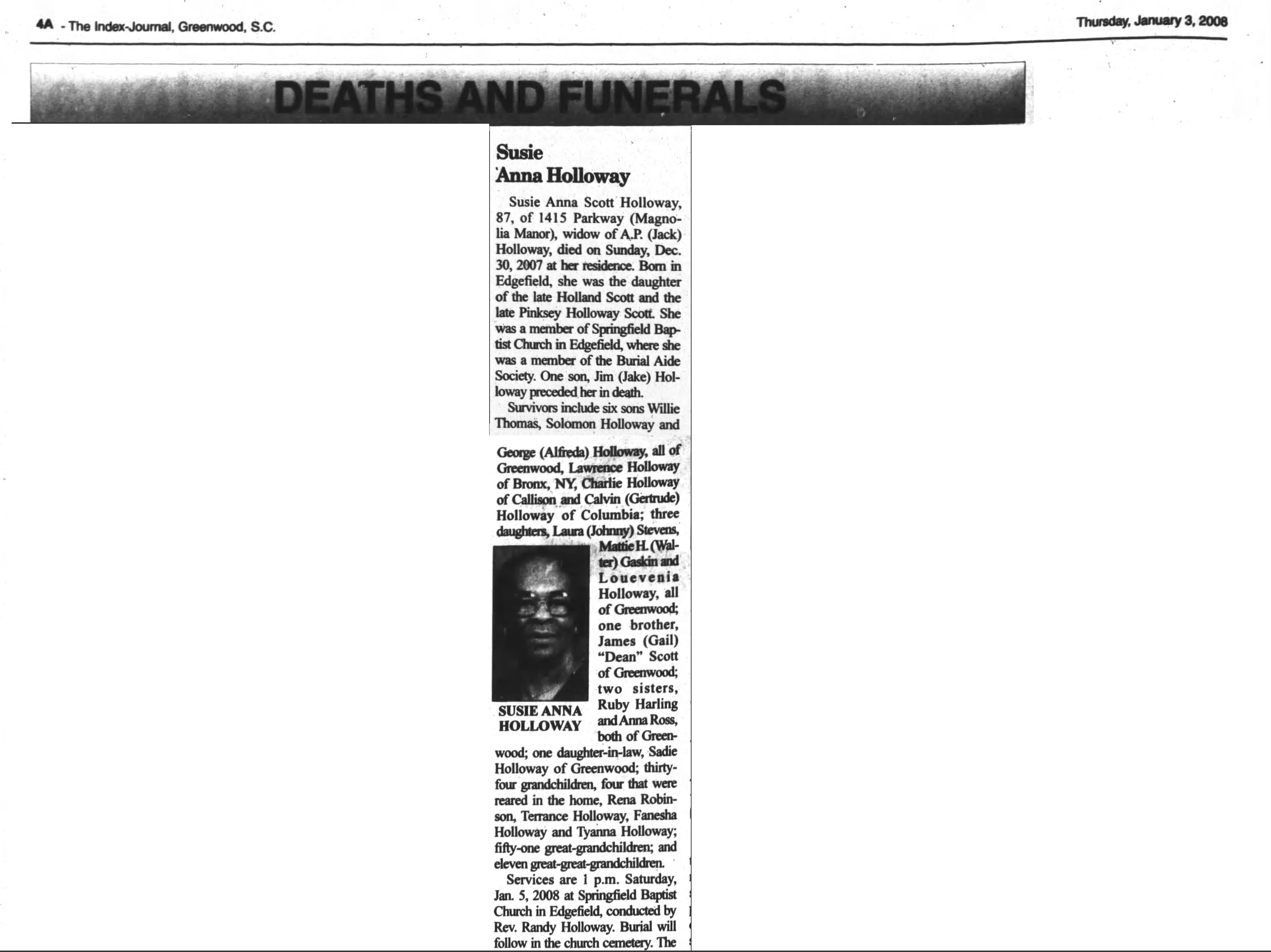 Baltimore county maryland genealogy learn familysearch org - Susie Anna Holloway Obit