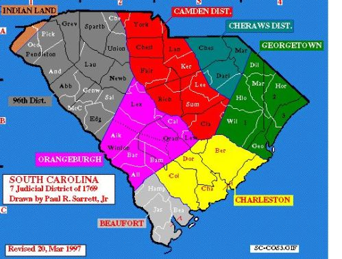 South Carolina Districts 1769